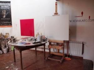 l'estudi de l'artista